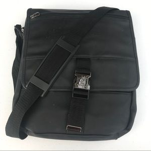 Yves Saint Laurent Black Messenger Crossbody Bag